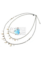 www.snowfall-beads.fr - DoubleBeads Kit de Bijoux To The Beach collier ± 45-53cm, avec SWAROVSKI ELEMENTS - E01628
