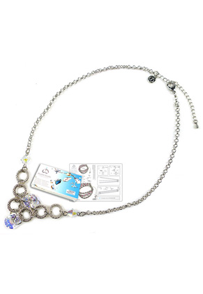 www.snowfall-beads.fr - DoubleBeads Kit de Bijoux Magician collier ± 54-61cm, avec SWAROVSKI ELEMENTS