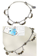 www.snowfall-beads.com - DoubleBeads Jewelry Kit My Fair Lady bracelet, inner size ± 16-24cm, with SWAROVSKI ELEMENTS - E01672