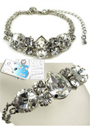 www.snowfall-beads.com - DoubleBeads Jewelry Kit Starstruck bracelet, inner size ± 19-26cm, with SWAROVSKI ELEMENTS - E01676