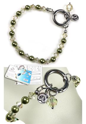 www.snowfall-beads.com - DoubleBeads EasyClip Jewelry Kit Eternal bracelet, inner size ± 18,5cm, with SWAROVSKI ELEMENTS
