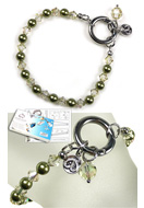 www.snowfall-beads.co.uk - DoubleBeads EasyClip Jewelry Kit Eternal bracelet, inner size ± 18,5cm, with SWAROVSKI ELEMENTS - E01677