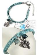 www.snowfall-beads.nl - DoubleBeads Sieradenpakket Animal Kingdom armband, binnenmaat ± 21,5-29cm, met SWAROVSKI ELEMENTS - E01698