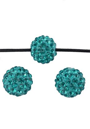 www.snowfall-beads.nl - Polymeerklei kralen met strass rond ± 12mm