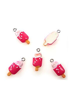 www.snowfall-beads.com - Synthetic pendants/charms ice cream 24x10mm