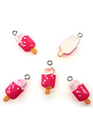www.snowfall-beads.com - Synthetic pendants/charms ice cream 24x10mm - E01909