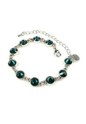 www.snowfall-beads.fr - DoubleBeads Mini Kit de Bijoux bracelet ± 17-25cm avec SWAROVSKI ELEMENTS