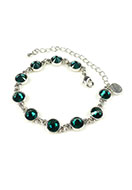 www.snowfall-beads.com - DoubleBeads Mini Jewelry Kit bracelet ± 17-25cm with SWAROVSKI ELEMENTS - E01988