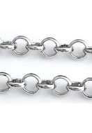 www.snowfall-beads.es - Cadena de metal rhodium plated con eslabones 4mm - E02046