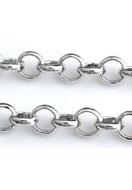 www.snowfall-beads.fr - Chaîne en métal rhodium plated avec maillons 4mm - E02046