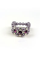 www.snowfall-beads.be - DoubleBeads Mini Sieradenpakket ring Ø ± 18mm, met SWAROVSKI ELEMENTS - E02159