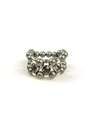 www.snowfall-beads.be - DoubleBeads Mini Sieradenpakket ring Ø ± 18mm, met SWAROVSKI ELEMENTS - E02161