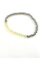 www.snowfall-beads.co.uk - DoubleBeads Mini Jewelry Kit bracelet ± 19cm with SWAROVSKI ELEMENTS - E02260