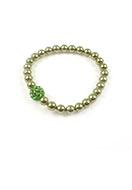 www.snowfall-beads.nl - DoubleBeads Mini Sieradenpakket armband rekbaar ± 18cm met SWAROVSKI ELEMENTS - E02303