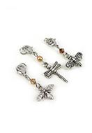 www.snowfall-beads.be - DoubleBeads Mini Sieradenpakket Mix & Match bedels insecten (set van 3) ± 38-46mm met SWAROVSKI ELEMENTS - E02454