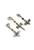 www.snowfall-beads.be - DoubleBeads Mini Sieradenpakket Mix & Match bedels insecten (set van 3) ± 38-46mm met SWAROVSKI ELEMENTS