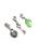 www.snowfall-beads.nl - DoubleBeads Mini Sieradenpakket Mix & Match bedels slotje (set van 3) ± 31-37mm met SWAROVSKI ELEMENTS