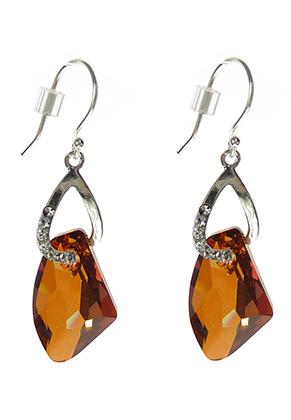 www.snowfall-beads.fr - DoubleBeads Mini Kit de Bijoux boucles d'oreilles de 925 argent ± 5cm avec SWAROVSKI ELEMENTS