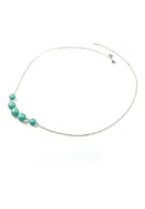 www.snowfall-beads.be - DoubleBeads Mini Sieradenpakket halsketting ± 60-67cm met SWAROVSKI ELEMENTS - E02628