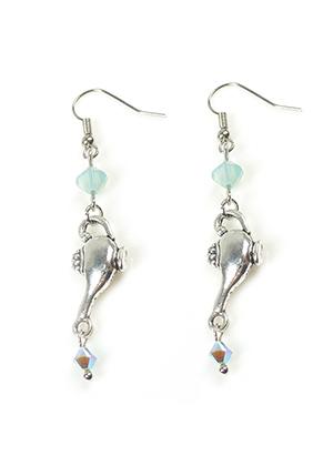 www.snowfall-beads.com - DoubleBeads Mini Jewelry Kit earrings oil lamp ± 6cm with SWAROVSKI ELEMENTS