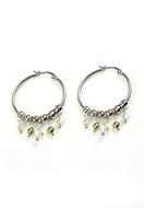 www.snowfall-beads.fr - DoubleBeads Mini Kit de Bijoux boucles d'oreilles ± 5cm avec SWAROVSKI ELEMENTS - E02869