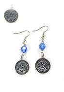 www.snowfall-beads.fr - DoubleBeads Mini Kit de Bijoux boucles d'oreilles signe du Zodiac Verseau ± 6cm avec SWAROVSKI ELEMENTS - E02872
