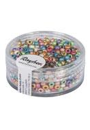 www.snowfall-perles.be - Rayher mélange de rocailles/perles pour broder en verre 8/0 3x2,6mm - E02972