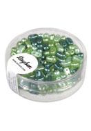 www.snowfall-perles.be - Rayher mélange de perles en verre avec 2 trous 5x3mm - E02983
