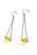 www.snowfall-beads.fr - DoubleBeads Mini Kit de Bijoux boucles d'oreilles ± 7,5cm avec SWAROVSKI ELEMENTS