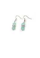 www.snowfall-beads.com - DoubleBeads Mini Jewelry Kit earrings ± 4cm with SWAROVSKI ELEMENTS - E03082