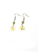 www.snowfall-beads.com - DoubleBeads Mini Jewelry Kit earrings ± 4cm with SWAROVSKI ELEMENTS - E03090