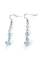 www.snowfall-beads.com - DoubleBeads Mini Jewelry Kit earrings ± 5cm with SWAROVSKI ELEMENTS - E03098