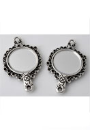 www.snowfall-beads.fr - Pendentif/entre-deux en métal miroir 41x25mm - E03104