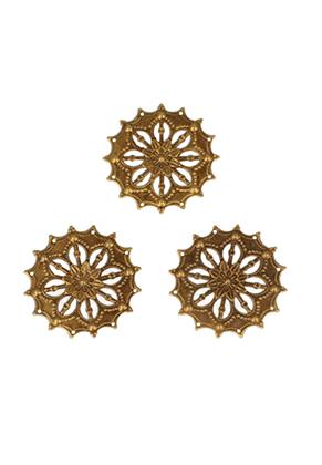 www.snowfall-beads.co.uk - Metal pendants/connectors filigree 44x0,5mm