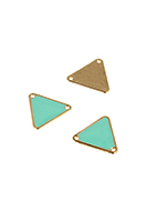 www.snowfall-beads.be - Metalen hangers/tussenzetsels driehoek 18x20mm - E03116
