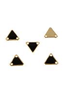 www.snowfall-beads.be - Metalen hangers/tussenzetsels driehoek 11x12mm - E03125