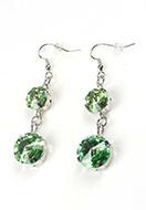 www.snowfall-perles.be - DoubleBeads Mini Kit de Bijoux boucles d'oreilles 6cm avec SWAROVSKI ELEMENTS - E03131
