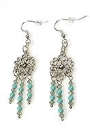 www.snowfall-perles.be - DoubleBeads Mini Kit de Bijoux boucles d'oreilles 7cm avec SWAROVSKI ELEMENTS - E03135