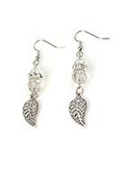 www.snowfall-perles.be - DoubleBeads Mini Kit de Bijoux boucles d'oreilles 6cm avec SWAROVSKI ELEMENTS - E03138