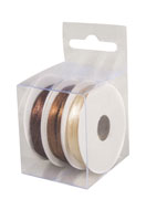 www.snowfall-beads.co.uk - Rayher mix satin ribbons 3mm (3 x 6 meter) - E03223