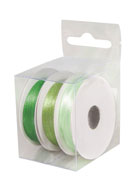 www.snowfall-beads.co.uk - Rayher mix satin ribbons 3mm (3 x 6 meter) - E03225