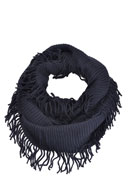 www.snowfall-fashion.co.uk - Tunnel scarf with fringes - F03508