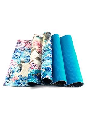 www.snowfall-fashion.de - PVC Yoga Matte mit Blumen und Pfau 183x61x0,5cm
