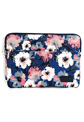www.snowfall-fashion.nl - Kinmac laptop sleeve 14 inch met bloemen