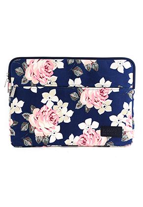 www.snowfall-fashion.nl - Kinmac laptop sleeve 14 inch met rozen