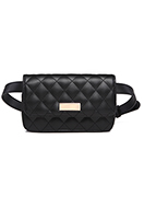 www.snowfall-fashion.co.uk - Imitation leather bum bag quilted - F06252