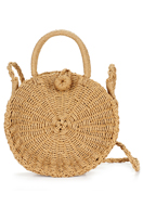 www.snowfall-fashion.com - Straw shoulder bag 33x23cm - F06353