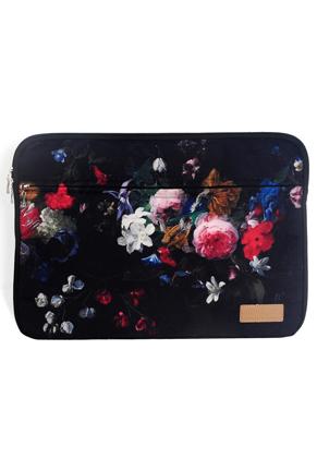 www.snowfall-fashion.de - Misstella Laptophülle 15,6 Zoll mit Blumen 39x28x2cm