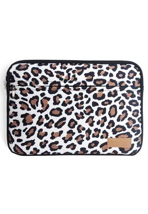 www.snowfall-fashion.fr - Misstella etui pour ordinateur portable 17 pouces avec imprimé léopard 46x34x2,5cm