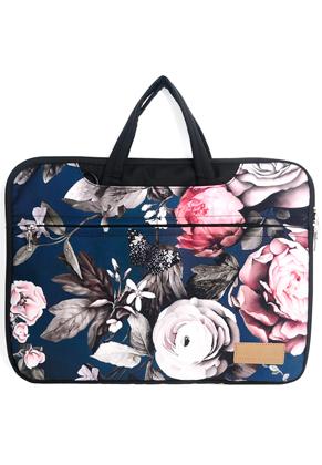 www.snowfall-fashion.fr - Misstella etui/sac pour ordinateur portable 17 pouces avec fleurs 46x33x2,5cm